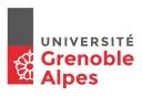 Appelez le téléphone de contact de l'Université Grenoble Alpes.