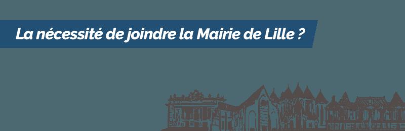 Téléphoner à la Mairie de Lille