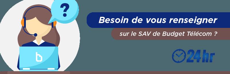 Communiquer avec le SAV Budget Télécom